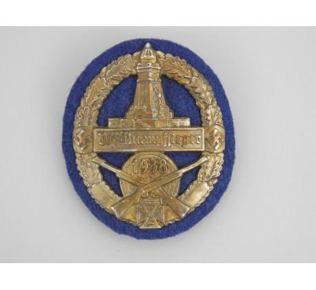 """Escudo de Kyffhäuserbund """"Wettkampfsieger 1938"""""""