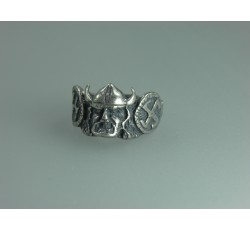 Nordland Wikings Waffen SS Officer's Silver Ring