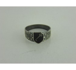 1st SS Panzer Division Leibstandarte SS Adolf Hitler Silver Ring