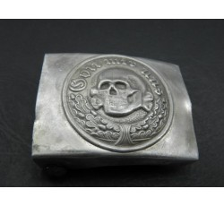 WW2 GERMAN DEATH HEAD 'GOTT MIT UNS' BELT BUCKLE