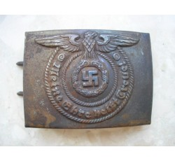 "WW2 GERMAN WAFFEN SS ""ALPAKA"" O&C BELT BUCKLE"