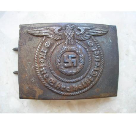 "WW2 GERMAN WAFFEN SS ""ALPAKA"" O&C BELT BUCKLE"