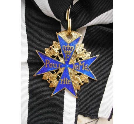 Prussia German Military Order Pour le Mérite Blue Max