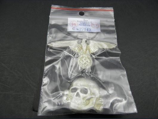 Waffen SS Visor Cap Badges Set