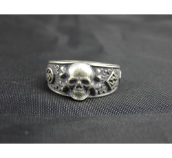 Waffen SS Death Head Runes War Ring
